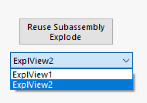Reuse subassembly explode