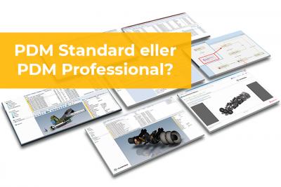 PDM Standard eller PDM Professional?