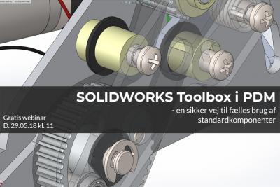Webinar om opsætning af SOLIDWORKS Toolbox i PDM