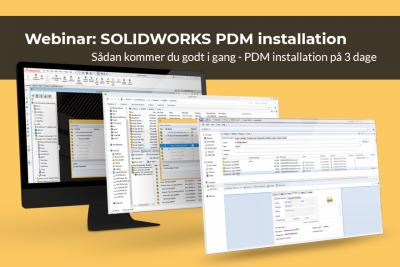 SOLIDWORKS PDM installation på 3 dage