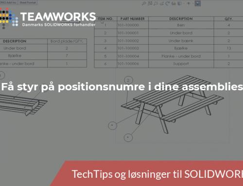 SOLIDWORKS TechTip: Få styr på positionsnumre i dine assemblies