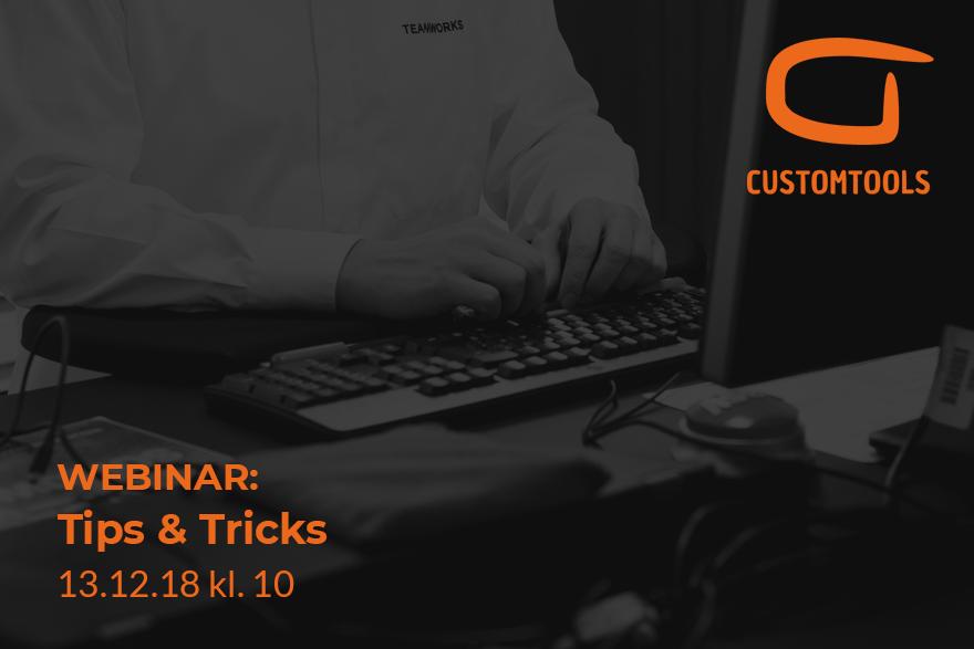 CustomTools Tips & Tricks webinar