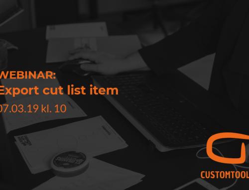 CustomTools webinar: Export cut list item