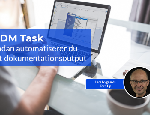 PDM Task: Sådan automatiserer du dit dokumentationsoutput