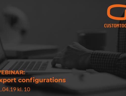 CustomTools webinar: Export configurations