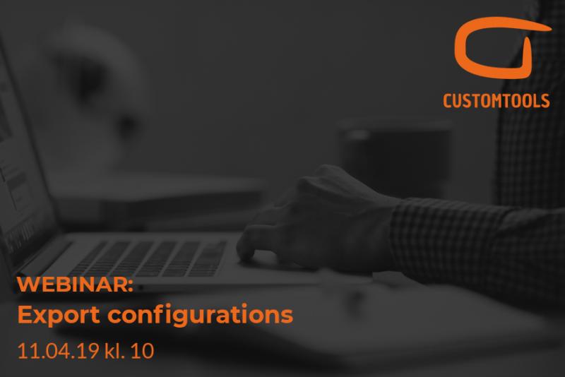 eksport af konfigurationer i CustomTools