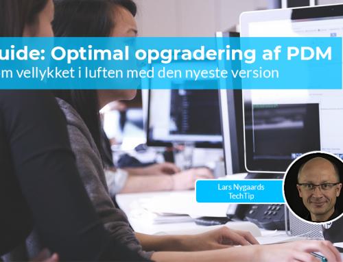 Guide: Optimal opgradering af PDM