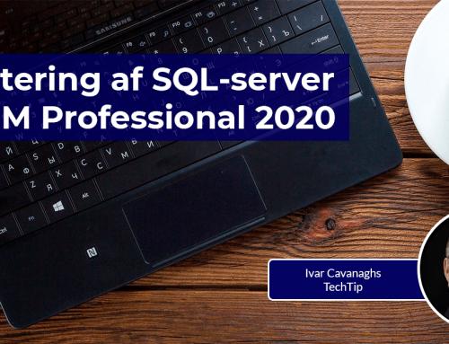 Opdatering af SQL-server til PDM Professional 2020